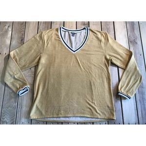 Eddie Bauer V Neck Long Sleeve Sweatshirt